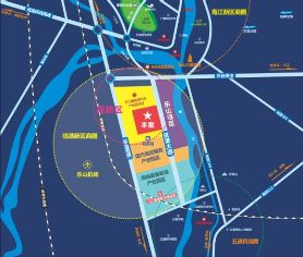 乐山远成中心区位图