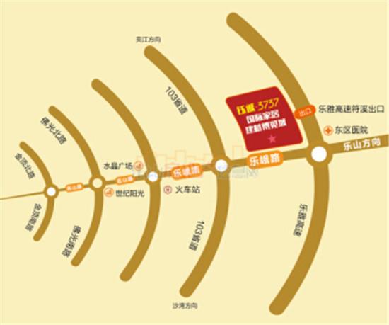 峨眉钰城3737区位图