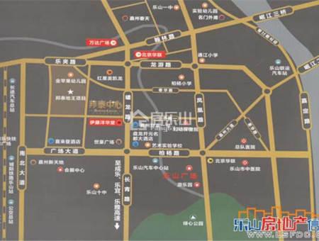 邦泰中心区位图