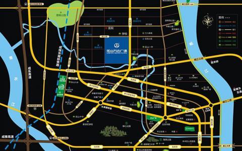 乐山万达广场区位图