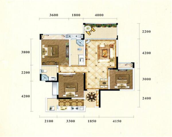 西湖香榭国际C2-3室2厅1卫-83㎡