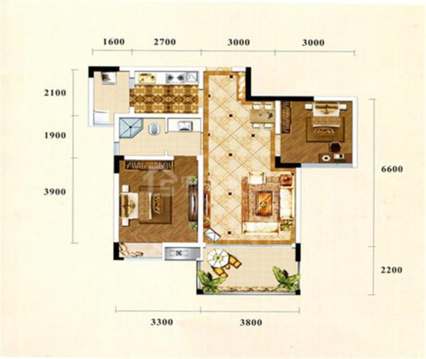 西湖香榭国际C3-2室2厅1卫-68㎡