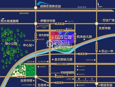 汉诚605公馆区位图