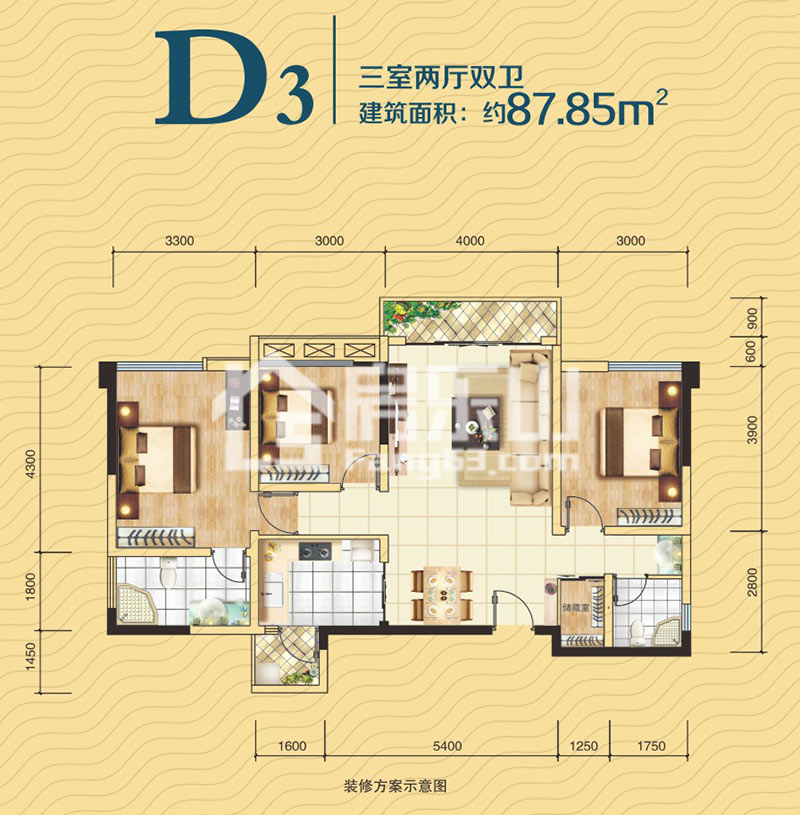 五洲汉唐D3户型图