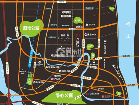 森林城区位图