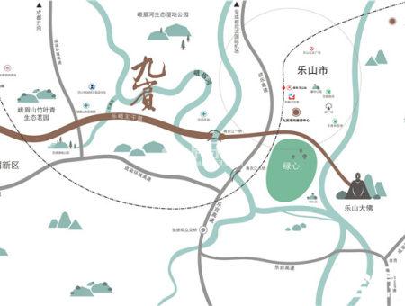 九宾湿地区位图