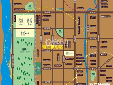 麓城区位图
