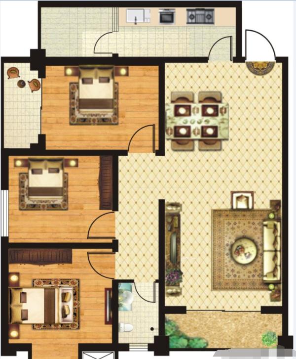 金港湾B2-3室2厅1卫-0㎡