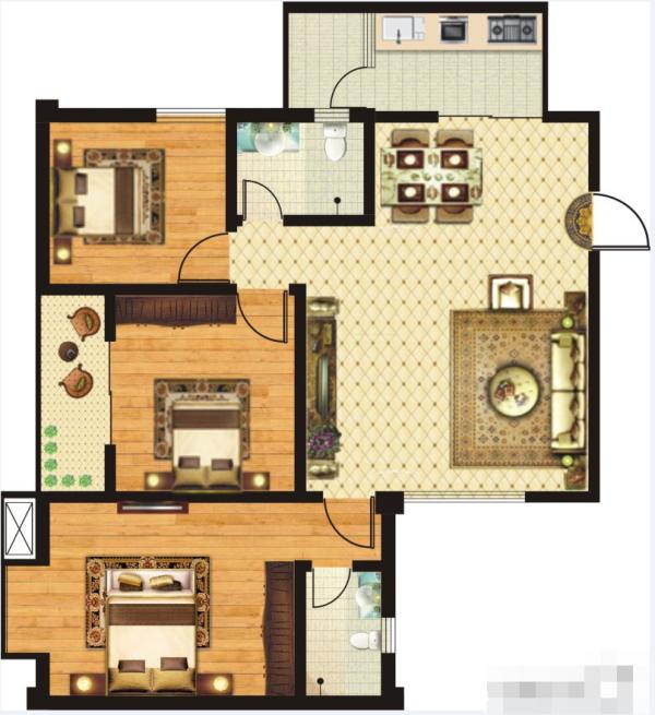 金港湾A1-3室2厅2卫-0㎡