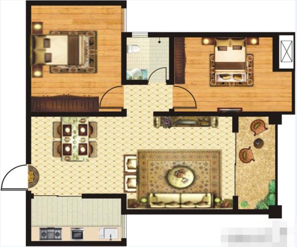 金港湾A2-2室2厅1卫-0㎡