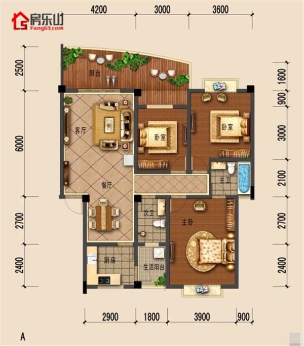 东风新城A-3室1厅0-125.39㎡