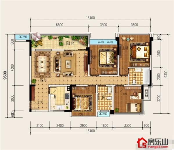 六和城天誉C1-4室2厅2卫-131.3㎡
