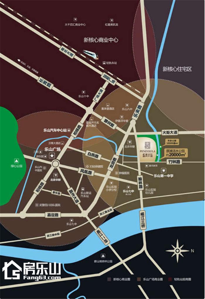 东安蓝湾半岛区位图