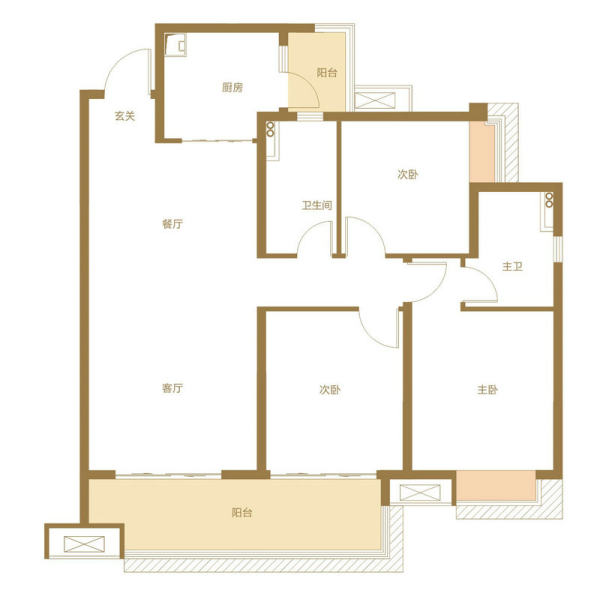 明瑟户型-3室2厅2卫-120.43㎡