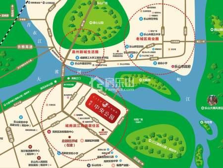 明星中央公园区位图