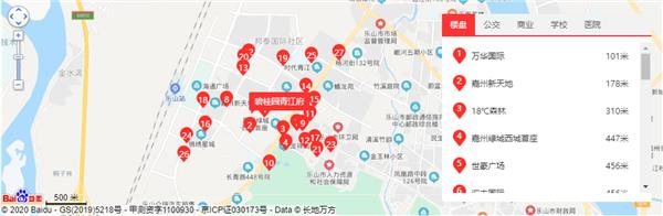 碧桂园青江府位置及周边配套卫星图