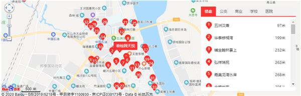 碧桂园天悦位置及周边配套卫星图