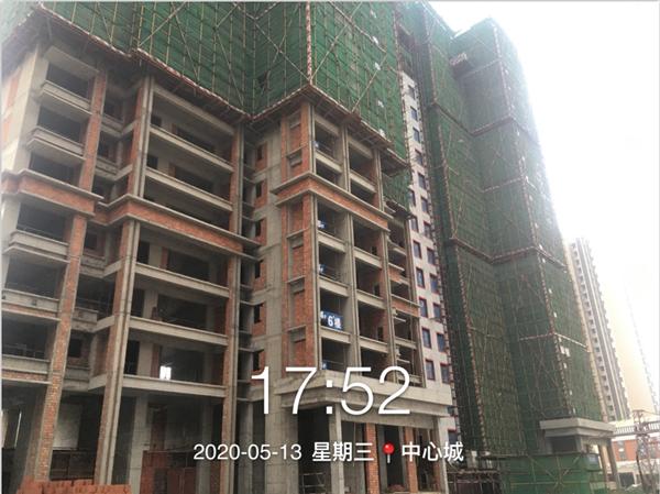 五期6、7幢21层结构施工完成