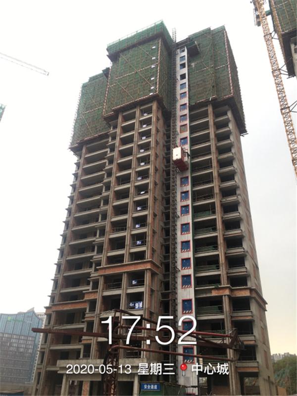五期9幢砌体施工完成80%