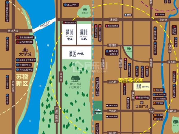麓城MINI区位图