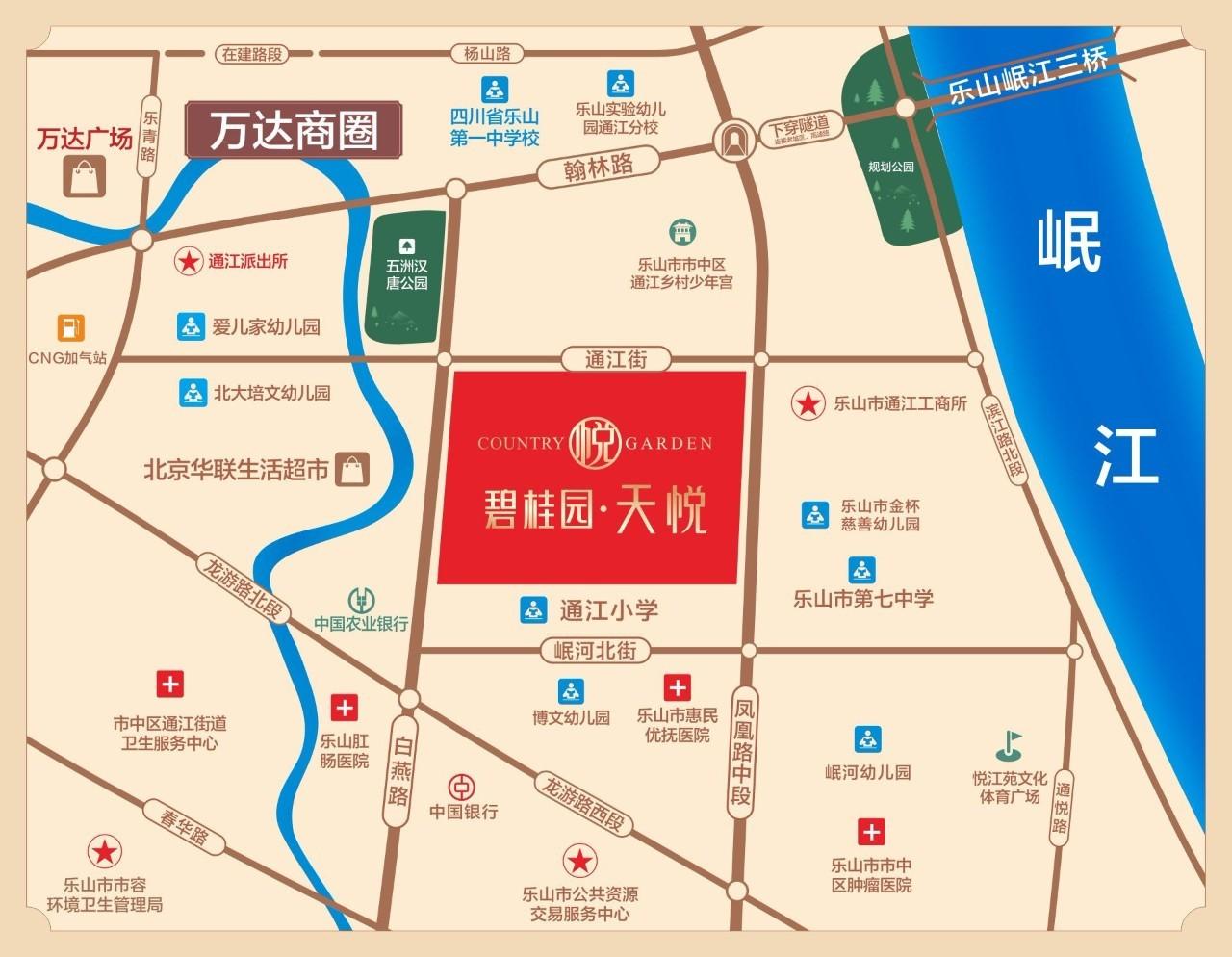 碧桂园天悦商铺区位图