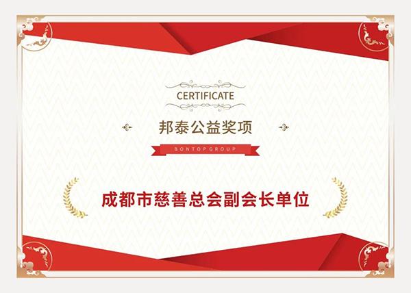 邦泰集团2020获奖证书