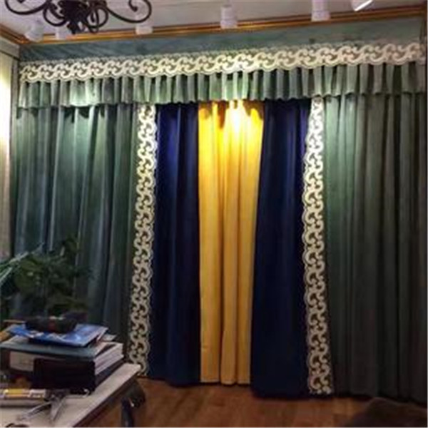 欧式厚绒窗帘