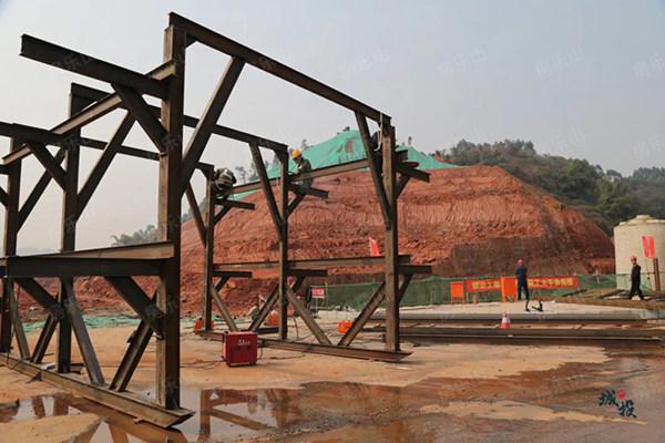 竹公溪洪道建设现状图
