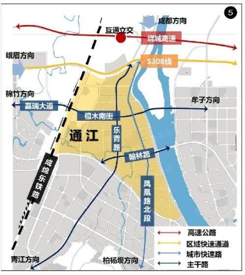 乐山城北通江片区交通配套图