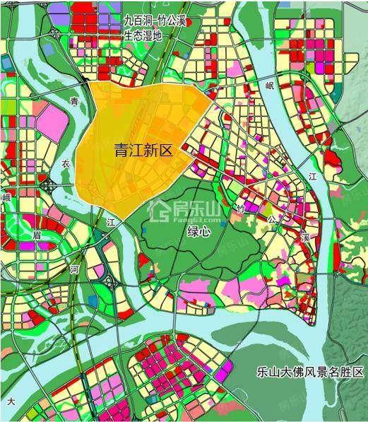 乐山青江新区规划图