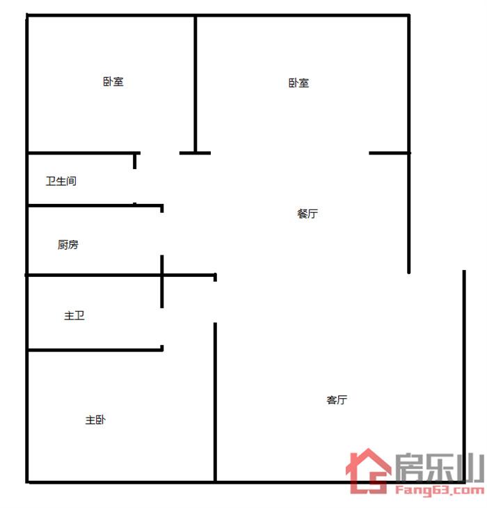 嘉州阳光二手房户型图
