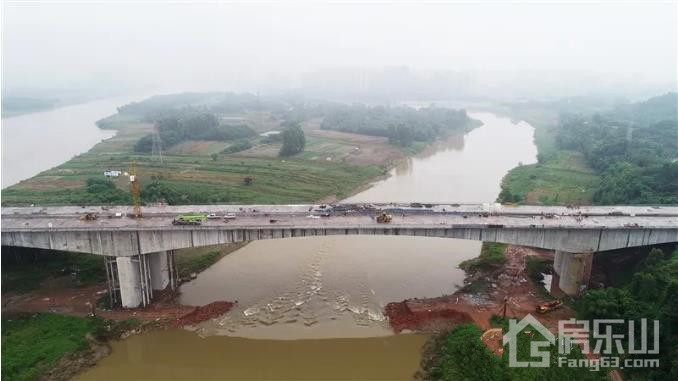 航拍漩水沱岷江特大桥