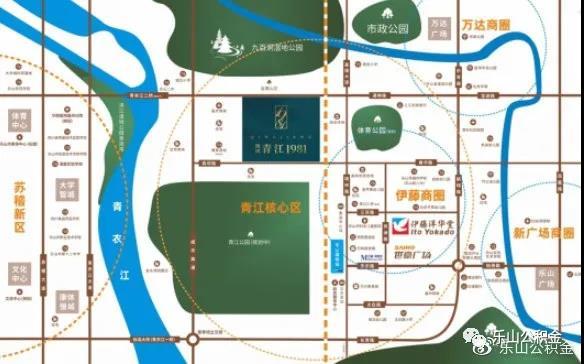 西网·青江1981区位图