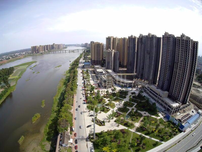 乐山城北版块鸟瞰图